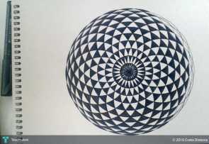 Torus-black-white-painting-471905